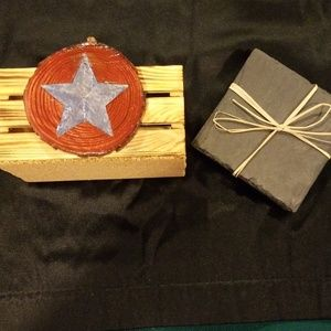 Other - Rustic wooden and slate coasters.